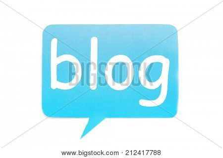 Dialog cloud with word BLOG on white background