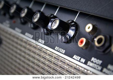 Closeup Of Amplifier Controls