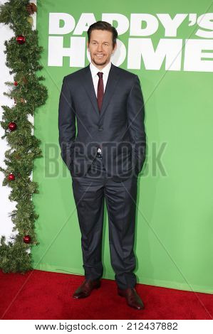 Mark Wahlberg at the Los Angeles premiere of 'Daddy's Home 2' held at the Regency Village Theatre in Westwood, USA on November 5, 2017.