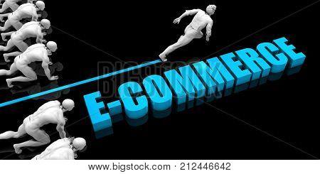 Superior E-commerce Concept with Competitive Advantage 3D Render