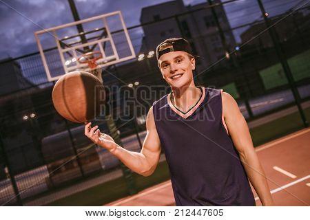 Stylish Basketball Player