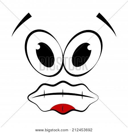 Dumb expression isolated on white background, Vector illustration