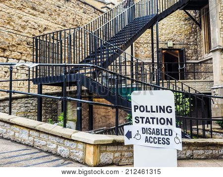 Polling Station In London, Hdr
