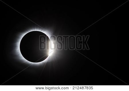 Total solar eclipse at diamond ring stage