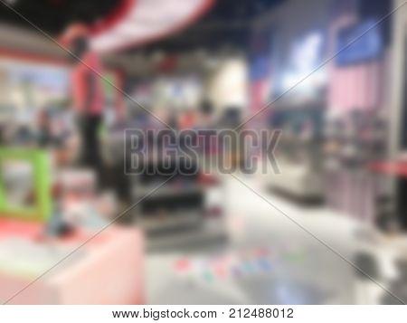 Blurred Footwear Store