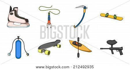 Extreme sport icons in set collection for design.Different kinds of sports vector symbol stock  illustration.