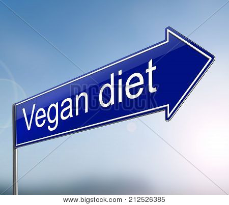 Vegan Sign Concept.