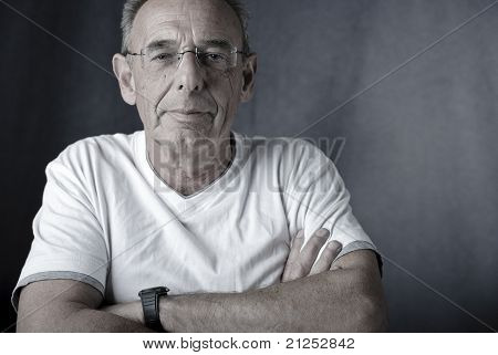 Satisfied man (senior)