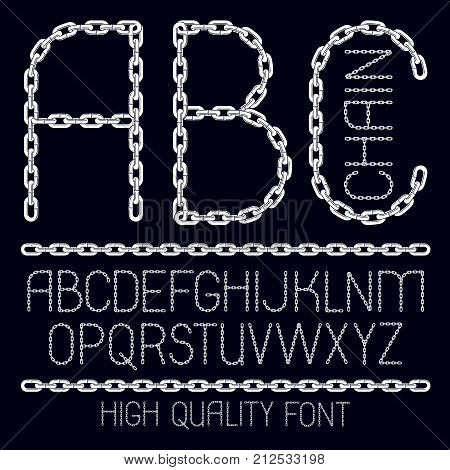 Set Of Vector English Alphabet Letters, Abc Isolated. Capital Decorative Font Created Using Connecte