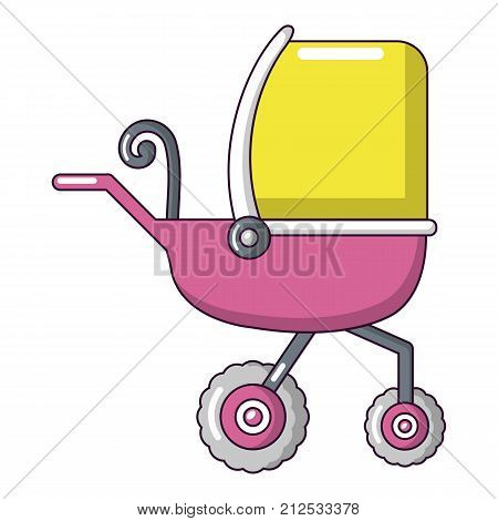 Baby carriage tricycles icon. Cartoon illustration of baby carriage tricycles vector icon for web