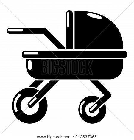 Baby carriage family icon. Simple illustration of baby carriage family vector icon for web