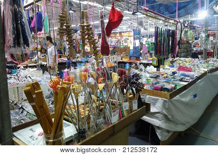 Stall That Sell Various Of Thing In The Night Market