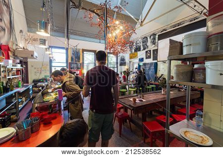 Melbourne Australia - February 7 2016: Lentil As Anything is a social enterprise vegetarian restaurant at Abbotsford Convent in inner city Melbourne.