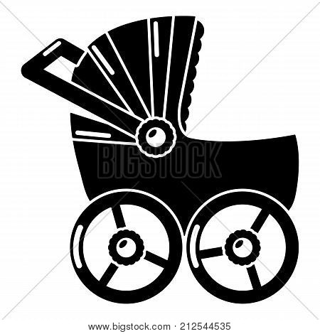 Baby carriage big icon. Simple illustration of baby carriage big vector icon for web
