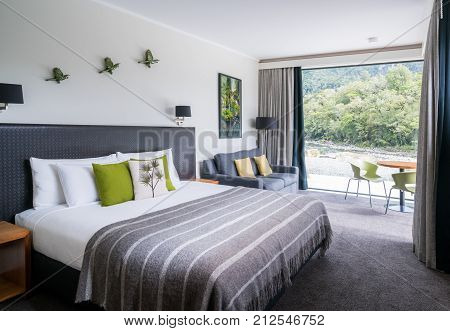 Luxury Bedroom Interior At Milford Sound Lodge