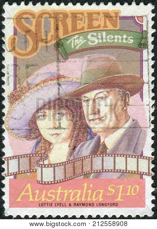 Australia - Circa 1989: Postage Stamp Printed In Australia, Stars Of Stage And Screen, Shows Lottie