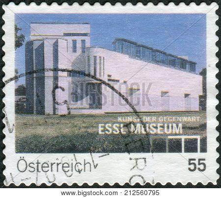 Austria - Circa 2007: Postage Stamp Printed In Austria, Shows The Museum Of Modern Art (essl Museum