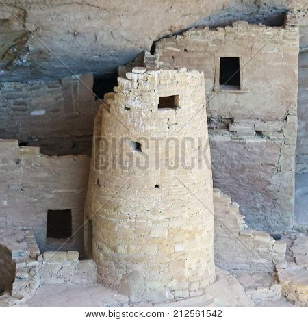 A View of Cliff Palace, Mesa Verde National Park in Colorado