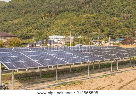 Solar panels , Photovoltaic modules for innovation green energy for life.