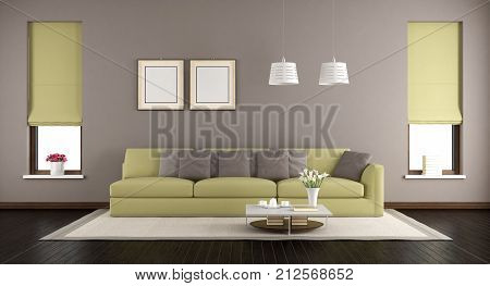 Brown And Green Living Room