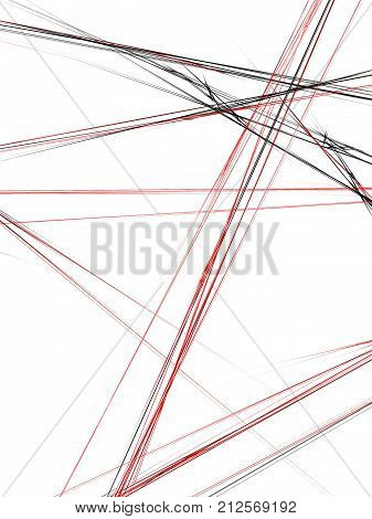 Grunge Abstract Red Background On White Backdrop