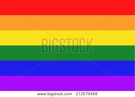 Pride flag. LGBT sign. Lesbian gay bisexual and transgender community colors