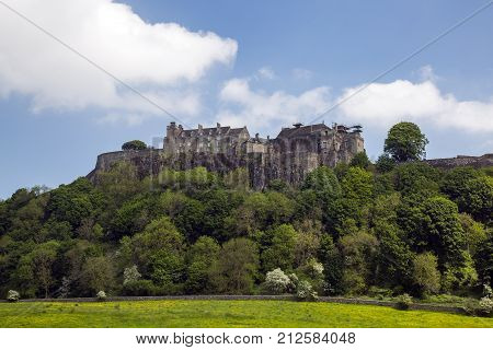 Stirling Scotland. MAY 25 2017 STIRLING CASTLE - summer view of the iconic Stirling Castle. Stirlingshire Scotland UK