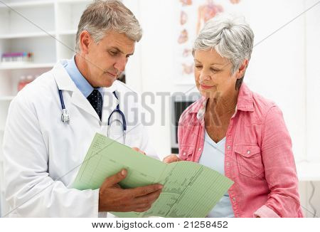 Doctor with female patient