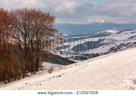 Mountainous Rural Area In Late Winter