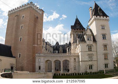 a Castle of Pau in Pyrenees Atlantiques France