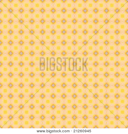 Yellow Print Fabric Background