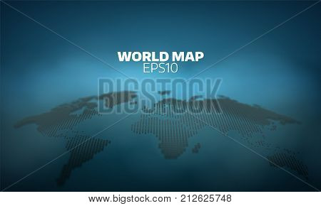 Abstract world map dot grid background. geography atlas