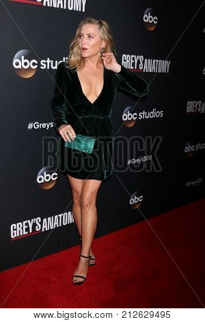 LOS ANGELES - NOV 4:  Jessica Capshaw at the