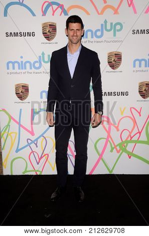 LOS ANGELES - OCT 3:  Novak Djokovic at the Goldie's Love In For Kids at the Green Acres Estate on October 3, 2017 in Beverly Hills, CA