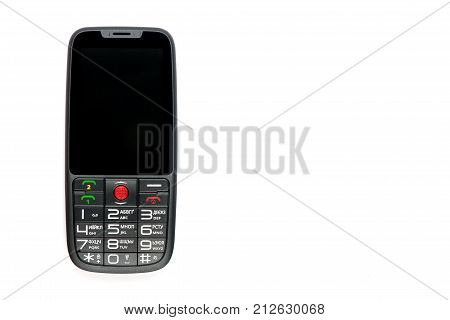 Mobile phone. Communication tool.Phone phone on white background