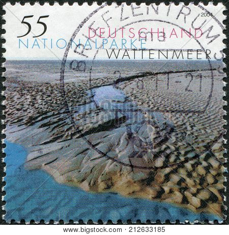 GERMANY - CIRCA 2004: A stamp printed in Germany shows Wattenmeer National Park circa 2004