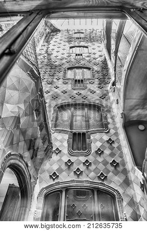Iconic Lightwell In Casa Batllo, Barcelona, Catalonia, Spain