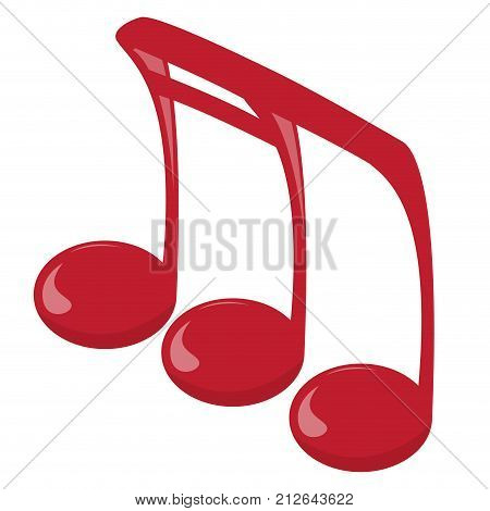 Isolated musical note, Eighth and sixteenth note, Vector illustration