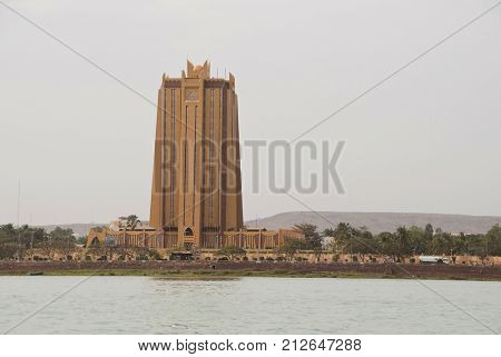 Bamako, Mali - February 15, 2012: The Bank of Africa (BOA) headquarters building.