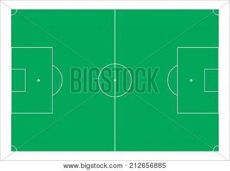 Vector illustration of a green soccer field