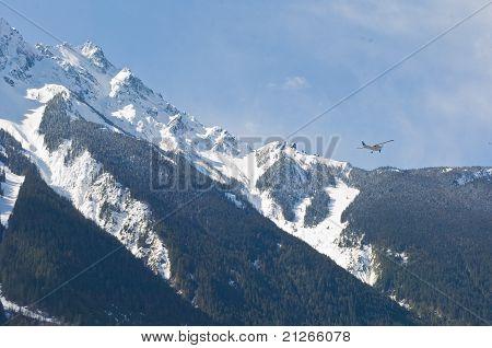 airplane mountains