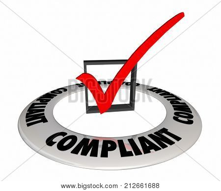 Compliant Check Box Confirmation Verified 3d Illustration