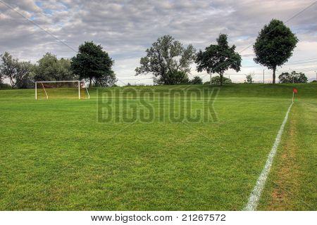 Dimly Lit Soccer Pitch