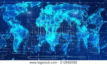 Holographic News World Map