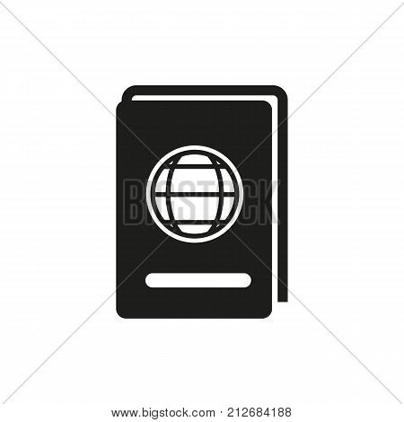 Simple icon of passport. Passport control, identity, international passport. Airport guide concept. Can be used for topics like travel, tourism, business