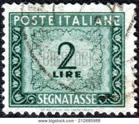 ITALY - CIRCA 1947: A stamp printed in Italy shows the value of a postage stamp circa 1947