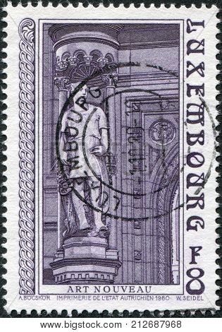 LUXEMBOURG - CIRCA 1980: A stamp printed in Luxembourg