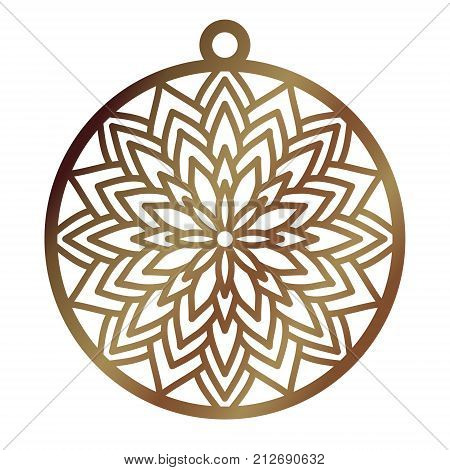 Laser Cut Openwork Christmas Decoration Vector Design. Laser Cutting Template For Xmas Tree. Merry C