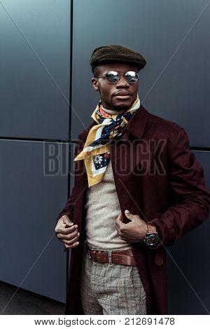 Fashonable Man In Sunglasses And Autumn Jacket