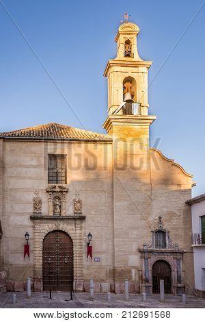 View at the Santo Domingo church of Antequera in Spain